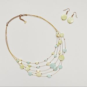 Diva necklace and earrings